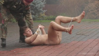 muscled lad services a nasty soldier