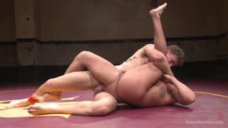 Naked wrestlers Jett Jax vs JJ Knight