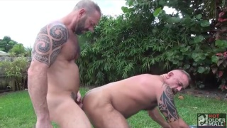 Jon Galt and Vic Rocco bare fucking outdoors