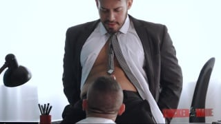 Victor Rom gets serviced by employee Marc Ferrer