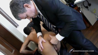 male secretary takes care of his horny boss