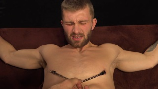 Nikol Monak gets bound edging session