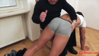 Ennio Guardi goes over the knee for a spanking