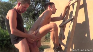 Pretty City Boy Lilou Fucked Against the Wall By Farmer