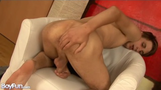 skinny boy jesse plays with his ass