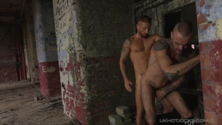 Nick North and Issac Jones fuck in dirty basement