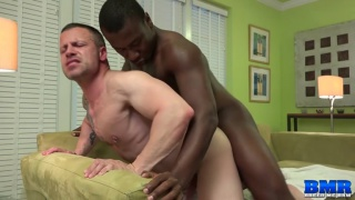 Damien Brooks bare fucks Russ Magnus