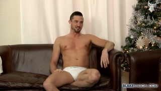 Sam Barclay peels off his underwear and jacks off