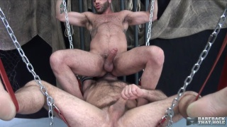 Matthieu Angel bottoms bare for Marcus Isaacs in a sling
