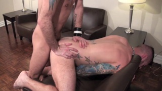 skinny lad bare fucks bearded daddy