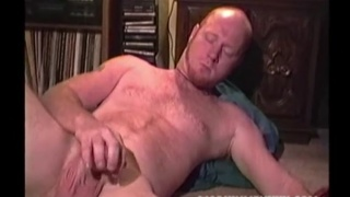 ginger musician Red strokes his dick