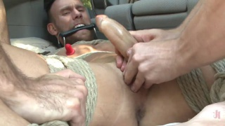 Damien Michaels gets tied up and edged