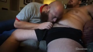 married man sucks his first guy's cock
