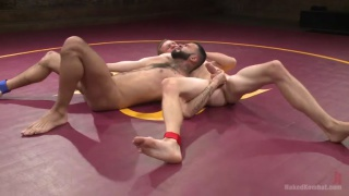Naked wrestlers Zane Anders and Rikk York
