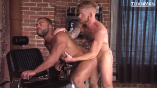 barbershop fuck with Bennett Anthony and Micah Brandt