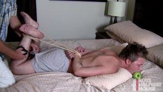 Hog Tied, Boned Raw And Fed Cum