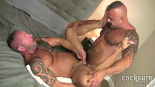first bareback with Vic Rocco and Jon Galt Bareback