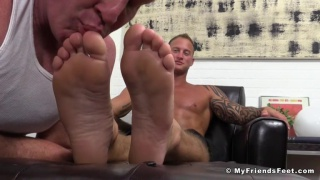 Dominant hunk Jason gets feet worship