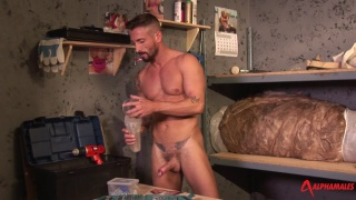 sexy nick north slips his hard-on into a fleshjack