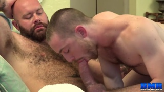furry bottom lad takes a daddy's huge cock