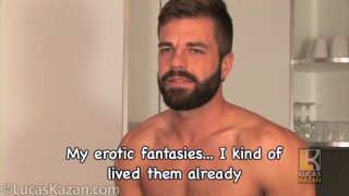 bearded hunk Hector in his audition video