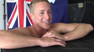 blond aussie Cody getting off at glory hole