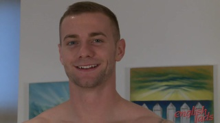 straight hunk thomas makes his first JO video