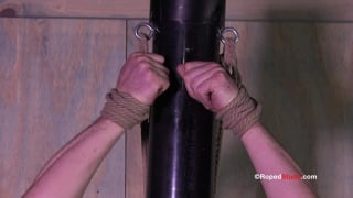 stud tied to a pole and edged