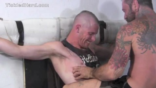 Texas gets his size 12 feet tickled