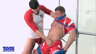 bound Shay Michaels blows Bob Hager