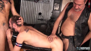 Ethan Palmer tag teamed by Justin Case and Victor Cody - Part 1