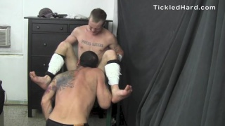 Buddy goes nuts during this tickling session