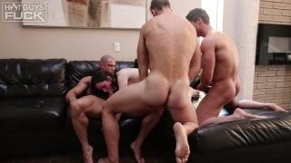 Sean Costin, Brady Corbin & Rob Burry FUCK Monica in Foursome