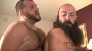 bearded men Steve Adams & Abe Carter bareback