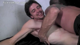 gunner busts a nut after his tickling session