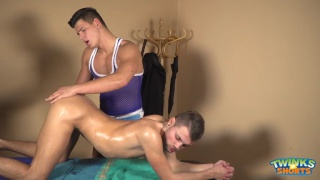 horny guy gets much-needed massage and more