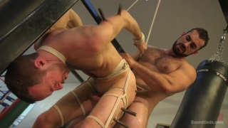 Jaxton Wheeler harasses Alex Hawk in the gym