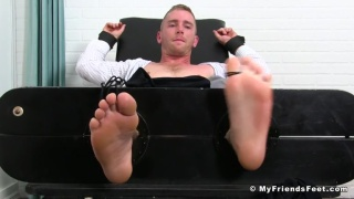 Scott Riley in the foot stockades