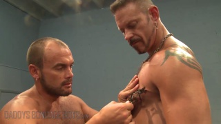 Gym Training Torment part 1 with Colin Steele & Jessie Balboa