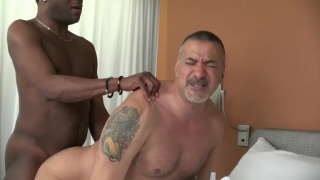 daddy hires black escort to service his ass