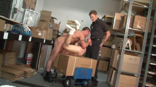 Muscle daddy fucks employee