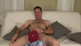 hairy guy Hal gets sucked off by older man