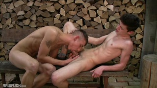 twink lad bends over and gets his hole stuffed