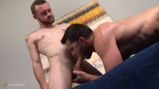 Easton & Vander fuck on the massage table