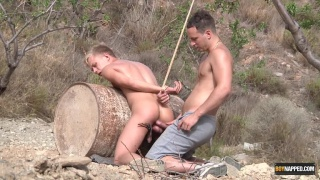 bound Chris Jansen gets fucked by Luke Desmond