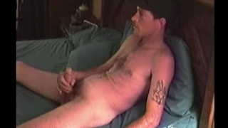 Tramp and Ray stroking their dicks