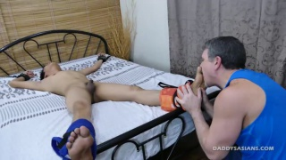 daddy and twink have tickling fun