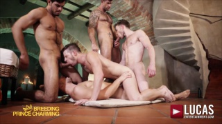 breeding prince charming - the BRIAN BONDS BAREBACK GANG BANG