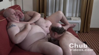 two big chub Daddies get their dicks sucked