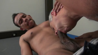 hung stud fucks a grey-haired daddy